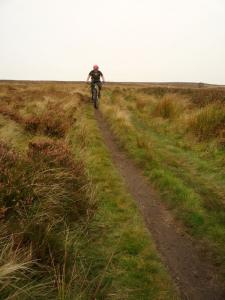 Brian on the Totley Moor singletrack.