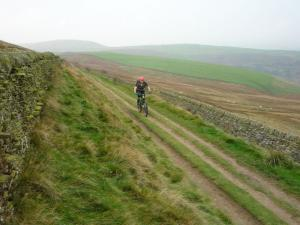 Brian on the Shatton Lane double track.