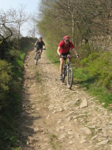 Nick and Paul on the Broadhurst Edge descent.