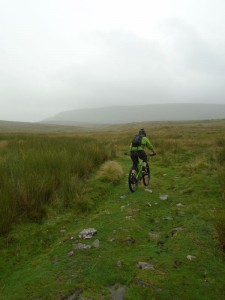 Brian on the Horton Moor climb heading towards Pen-y-ghent.