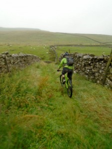Brian on the Pennine Bridleway heading to the Bark Houses.