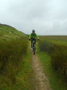 Brian on the Foxup Moor trail.