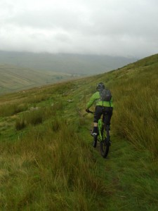 Brian starting the Foxup Moor descent.