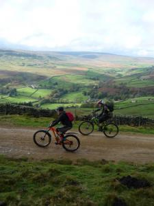 Karl and Brian on the Windeg track above Arkengarthdale.