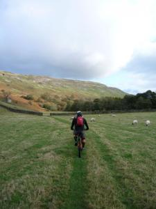 Riding below Fremington Edge from Storthwaite Hall.