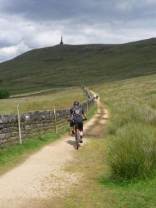 James on the Mary Towneley Loop below Stoodley Pike Monument.