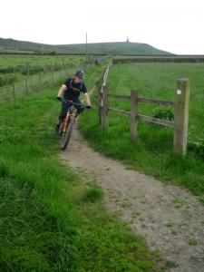 James on the Pennine Bridleway at Rough Head.