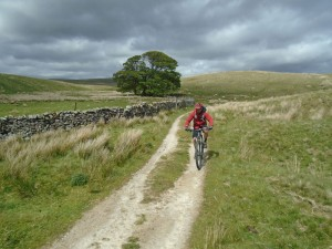 Graham at Fair Bottom Hill on the Pennine Bridleway.