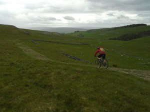 Graham on the Long Scar descent of the Pennine Bridleway.