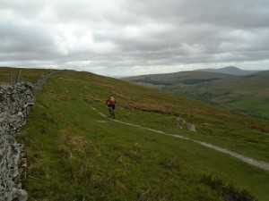 Graham following the Pennine Bridleway on Brant Side.
