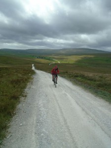 Graham climbing the Dales Way to Cam End junction.