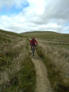 Graham on the Black Rake Road singletrack.