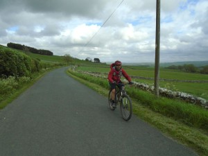 Graham on the lanes heading back to Ingleton.