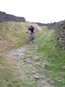 Paul at the bottom of the Storthwaite Hall descent.