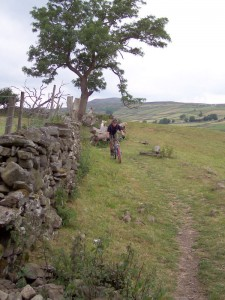 Paul heading towards Grinton.