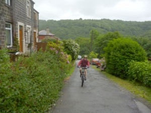 Mike on the Charlestown climb.