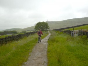 Mike on the Mary Towneley Loop below Stoodley Pike.
