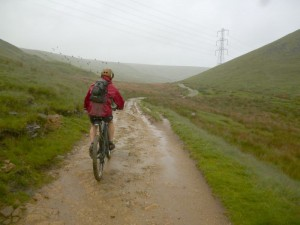 Mike on the Mary Towneley Loop to Calderbrook.