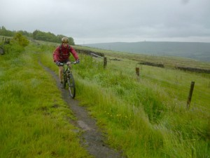 Mike on the Todmorden Centernary Way singletrack.